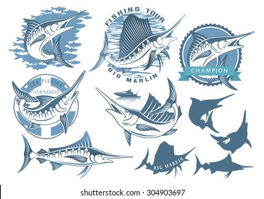 Shown on a set topic marlin fishing