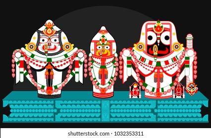 Shrdha besa of hindu god lord jagannath lord balabhadra & goddess Subhadra