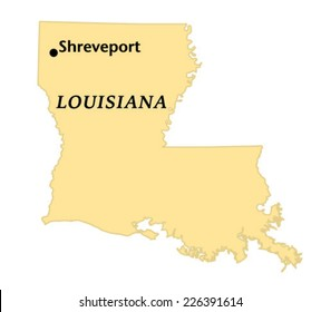 Shreveport, Louisiana locate map