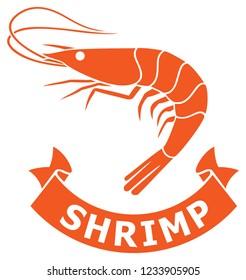 shrimp icon vector illustration