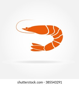 Shrimp icon. Vector illustration.