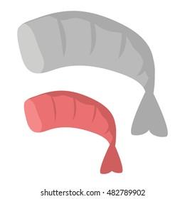 Shrimp vector illustration.
