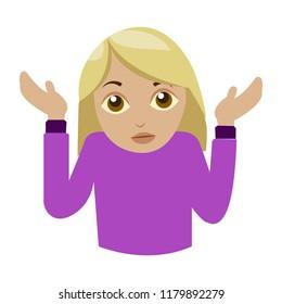 Shrugging woman light skin tone i don't know emoji
