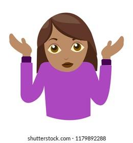 Shrugging woman medium skin tone i don't know emoji