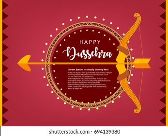 Shubh Dussehra wallpaper design background, Vector Illustration.