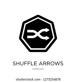 shuffle arrows icon vector on white background, shuffle arrows trendy filled icons from Arrows collection, shuffle arrows simple element illustration