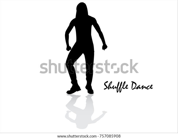 Shuffle Dance Girl Silhouette Stock Vector (Royalty Free