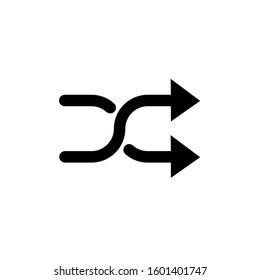 Shuffle icon, vector illustration. Flat design style. vector shuffle icon illustration isolated on white, shuffle icon Eps10. shuffle icons graphic design vector symbols.