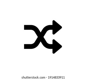 Shuffle icon vector. Linear style sign for mobile concept and web design. Shuffle symbol illustration. Pixel vector graphics - Vector