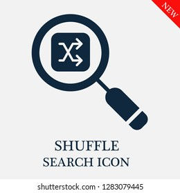 Shuffle search icon. Editable Shuffle search icon for web or mobile.