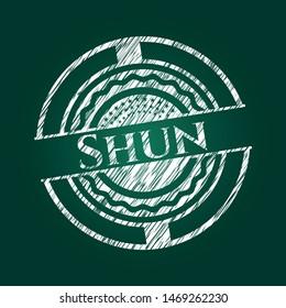 Shun chalk emblem. Vector Illustration. Detailed.