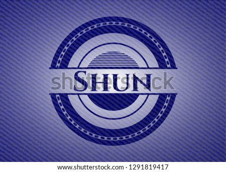 Shun denim background