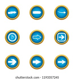 Shunter icons set. Flat set of 9 shunter vector icons for web isolated on white background