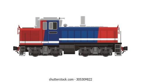 shunter locomotive illustration