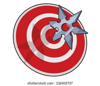shuriken hitting target