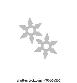 shuriken icon, flat design