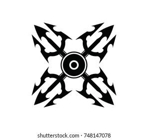 Shuriken logo, Ninja Stars, Throwing Stars