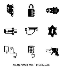 Shut icons set. Simple set of 9 shut vector icons for web isolated on white background