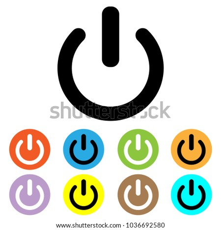 Shutdown Icon Vector Power Icon On Off Stock Vector Royalty Free
