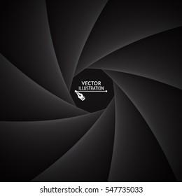 Shutter aperture. Illustration of camera shutter. Vector illustration.