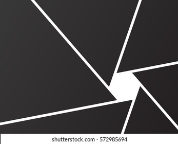 Shutter Background Black Camera - isolated vector illustration