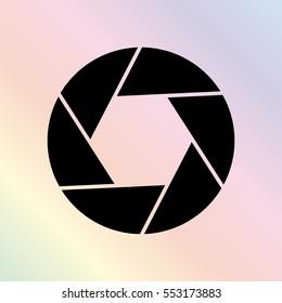 Shutter -  black vector icon