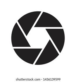 shutter glyph flat vector icon