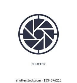 shutter icon. Simple element illustration from user interface concept. shutter editable symbol design on white background. Can be use for web and mobile.