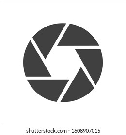 Shutter Icon in trendy flat style isolated on grey background, for your web design, app, logo, UI. Vector illustration