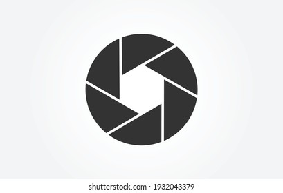 Shutter Icon in trendy flat style isolated on grey background, for your web design, app, logo, UI. Vector illustration, EPS10.