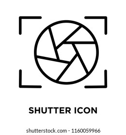 Shutter icon vector isolated on white background, Shutter transparent sign , line and outline elements in linear style