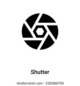 Shutter icon vector isolated on white background, logo concept of Shutter sign on transparent background, filled black symbol