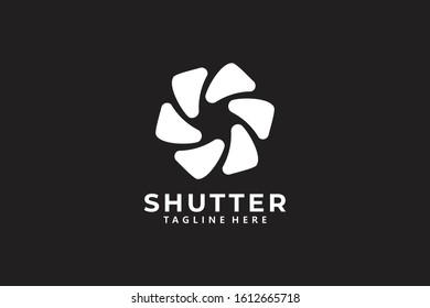 shutter logo icon vector isolated