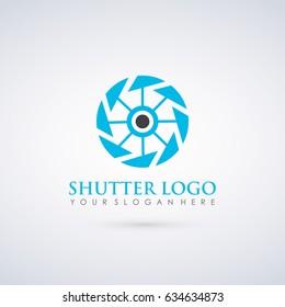 Shutter Logo Template. Photograpy Studio, Drone. Vector illustration Eps.10