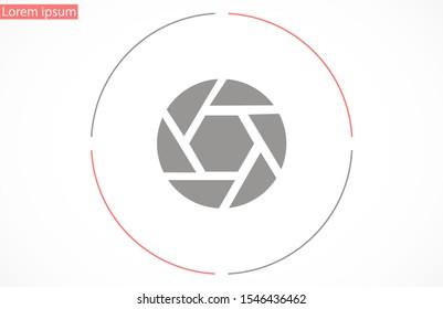Shutter vector icon.