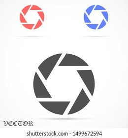 Shutter vector icon . the Shutter for the camera. the Shutter for the photo. Shutter for shooting icon . photographer of icon