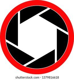 Shutter vector symbol
