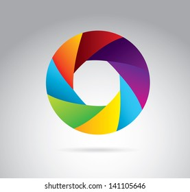 shutters colors over white background vector illustration