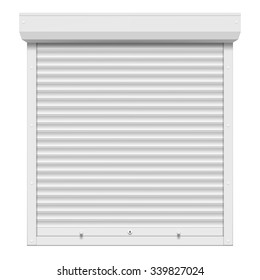 Shutters isolated on white background. Stock vector illustration.