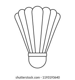 Shuttle birdie equipment icon. Outline shuttle birdie equipment vector icon for web design isolated on white background