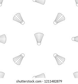 Shuttle birdie equipment pattern seamless vector repeat geometric for any web design