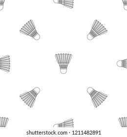 Shuttle birdie pattern seamless vector repeat geometric for any web design