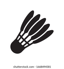 Shuttlecock icon in trendy flat style design. Vector graphic illustration. Suitable for website design, logo, app, and ui. Editable vector stroke. EPS 10.