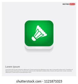 Shuttlecock IconGreen Web Button - Free vector icon