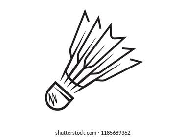 shuttlecock sport logo