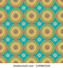 Shweshwe circle pattern