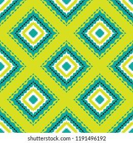 Shweshwe diamond shape pattern