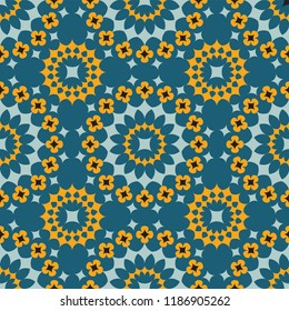 Shweshwe flower pattern