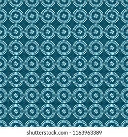 Shweshwe flower pattern blue