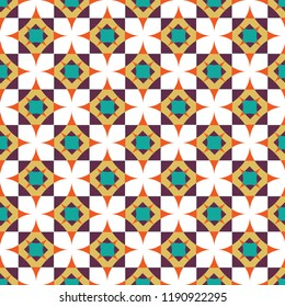Shweshwe geometric star pattern